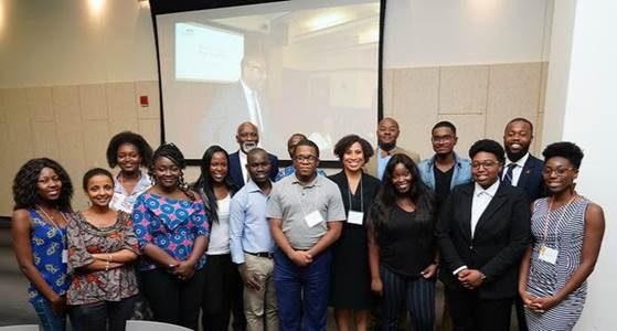 NJBLCF Interns with 2019 Mandela Fellows at Rutgers University-Newark.